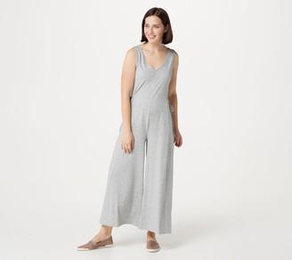 AnyBody Petite Cozy Knit Wide-Leg Jumpsuit