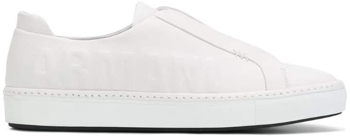 Giorgio Armani emblossed slip-on sneakers