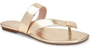 Calvin Klein Women's Saurin Flat Sandals Women's Shoes
