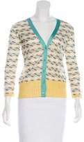 M Missoni V-Neck Button-Up Cardigan