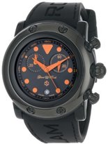 Glam Rock Women's GR61114 Miami Beach Chronograph Black Dial Black Silicone Watch