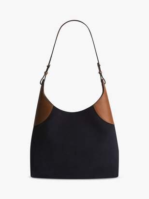Gerard Darel Jackie Leather Shoulder Bag, Blue