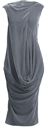 Rick Owens Ellipse Velvet Midi Dress
