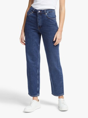 Selected Kate Straight Leg Jeans, Medium Blue