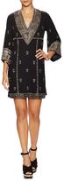 Alice + Olivia Ray Cotton Embellished Shift Dress
