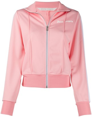 Palm Angels Fitted Track Jacket Pink White