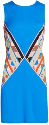 Emilio Pucci Printed Sleeveless Jersey Dress