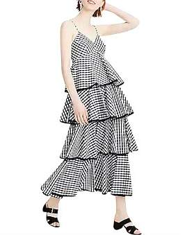 J.Crew Tiered Gingham Dress
