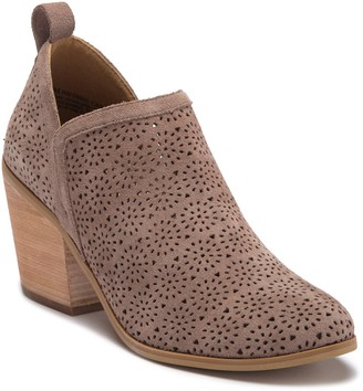Susina Camden Perforated Suede Bootie