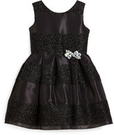 Zoë Ltd Sleeveless Jacquard Striped Party Dress, Black, Size 7-16