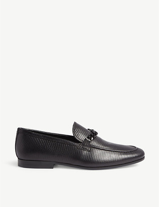 Aldo Royton alligator-embossed leather loafers