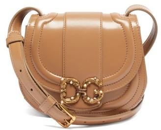 Dolce & Gabbana Amore Leather Cross-body Bag - Beige