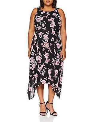 Evans Women's Floral Hanky Hem Dress,Size: