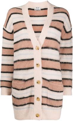 Acne Studios Salmon Pink Alpaca Wool Cardigan