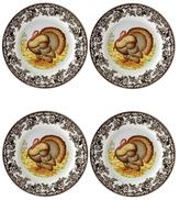 Spode Woodland Turkey Salad Plates (Set of 4)