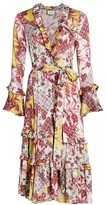 Alexis Weira Tiered Paisley Wrap Dress