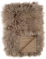 Adrienne Landau Mongolian-Lamb-Fur Throw