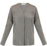 J. Lindeberg Eve Grey Silk Shirt