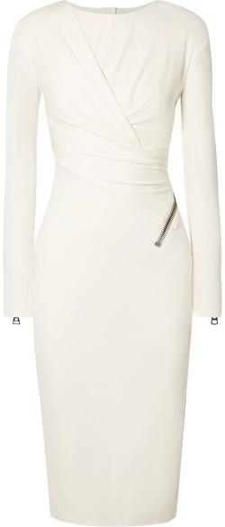 d17e1fc4d8e White Ruched Dress - ShopStyle
