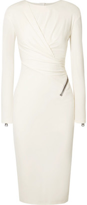Tom Ford Ruched Jersey Midi Dress - White