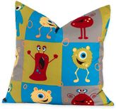 Crayola Monster Friends 16-Inch Square Throw Pillow in Blue