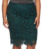 JLO by Jennifer Lopez Plus Size Lace Pencil Skirt