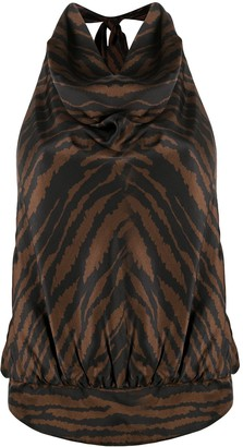 ATTICO Zebra Print Sleeveless Top