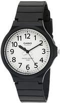 Casio Men's 'Easy To Read' Quartz Black Casual Watch (Model: MW240-7BV)