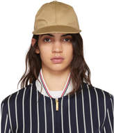 Thom Browne Khaki Twill Six-Panel Baseball Cap