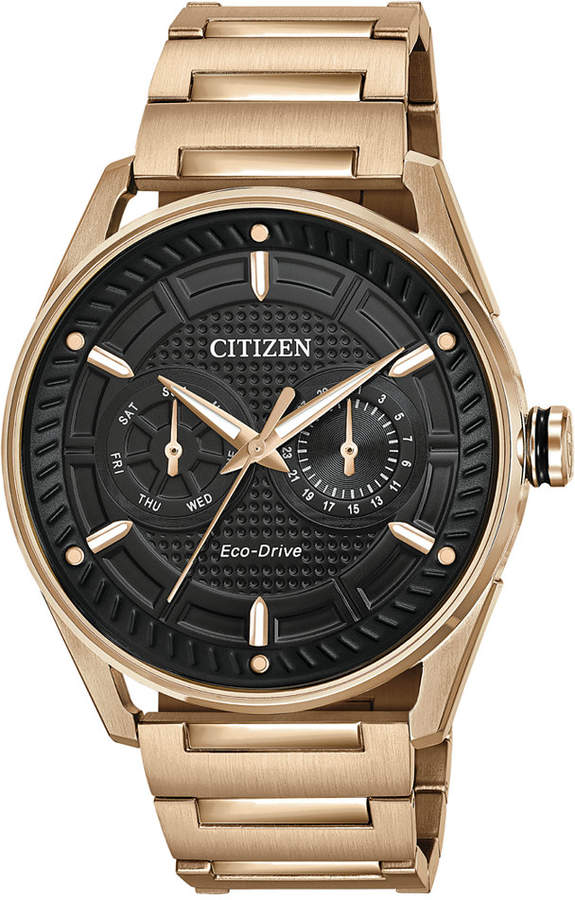 Citizen Drive from Eco-Drive Men's Rose Gold-Tone Stainless Steel Bracelet Watch 42mm