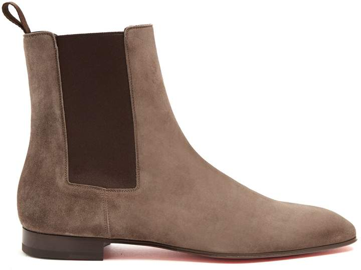 Christian Louboutin Roadie suede chelsea boots