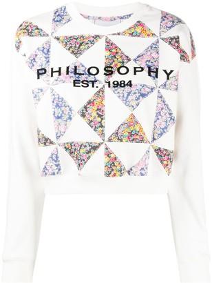 Philosophy di Lorenzo Serafini Floral Print Patchwork Sweatshirt