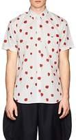 Comme des Garcons Men's Polka Dot Cotton Poplin Shirt