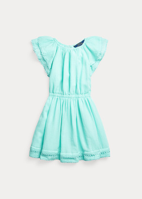 Ralph Lauren Pom-Pom Cotton Dress
