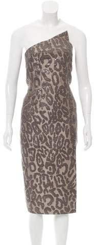 Cushnie et Ochs Strapless Jacquard Dress