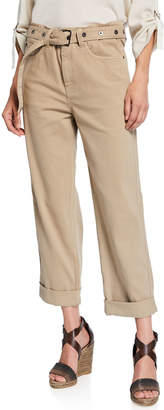 Brunello Cucinelli Garment-Dyed Cuffed Jeans