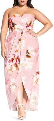 City Chic English Rose Maxi Dress