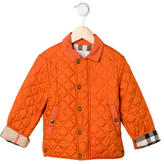 Burberry Girls' Quilted Nova Check Lined Jacket