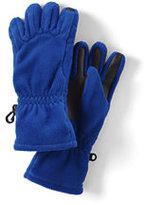 Lands' End Boys 200 Fleece Gloves-Black Island Batik
