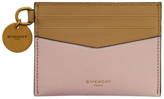 Givenchy Beige and Pink Edge Card Holder