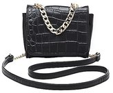 Charlotte Russe Embossed Crocodile Crossbody Bag