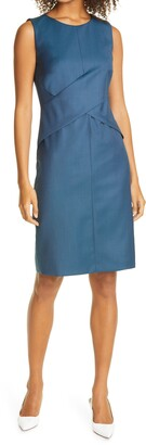 HUGO BOSS Dulla Wool Sleeveless Sheath Dress