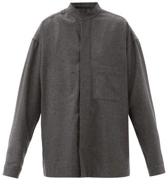 Haider Ackermann Oversized Wool-felt Shirt - Grey