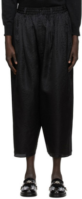 SASQUATCHfabrix. Black Layered Wide Lounge Pants