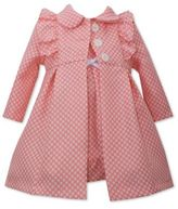 Bonnie Baby 2-Piece Dot Dress and Coat Set in Coral