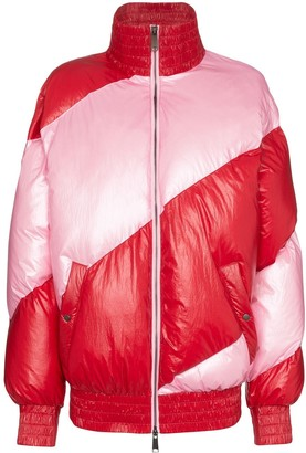 House of Holland Striped Oversized Puffer Jacket