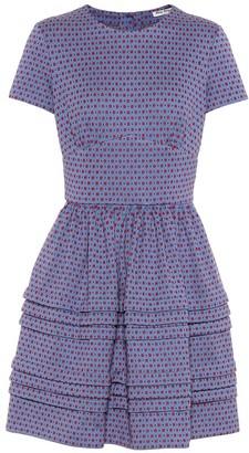 Miu Miu Cotton-blend jacquard dress