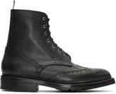 Thom Browne Black Wingtip Boots