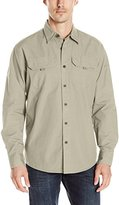 Wrangler Men's Big and Tall Long Sleeve Canvas Shirt