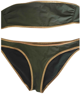 Chloé Khaki Cotton - elasthane Swimwear